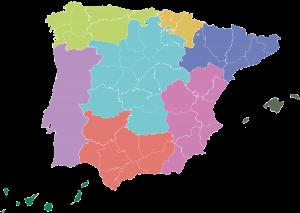 Mapa Zanotti España - delegación Levante