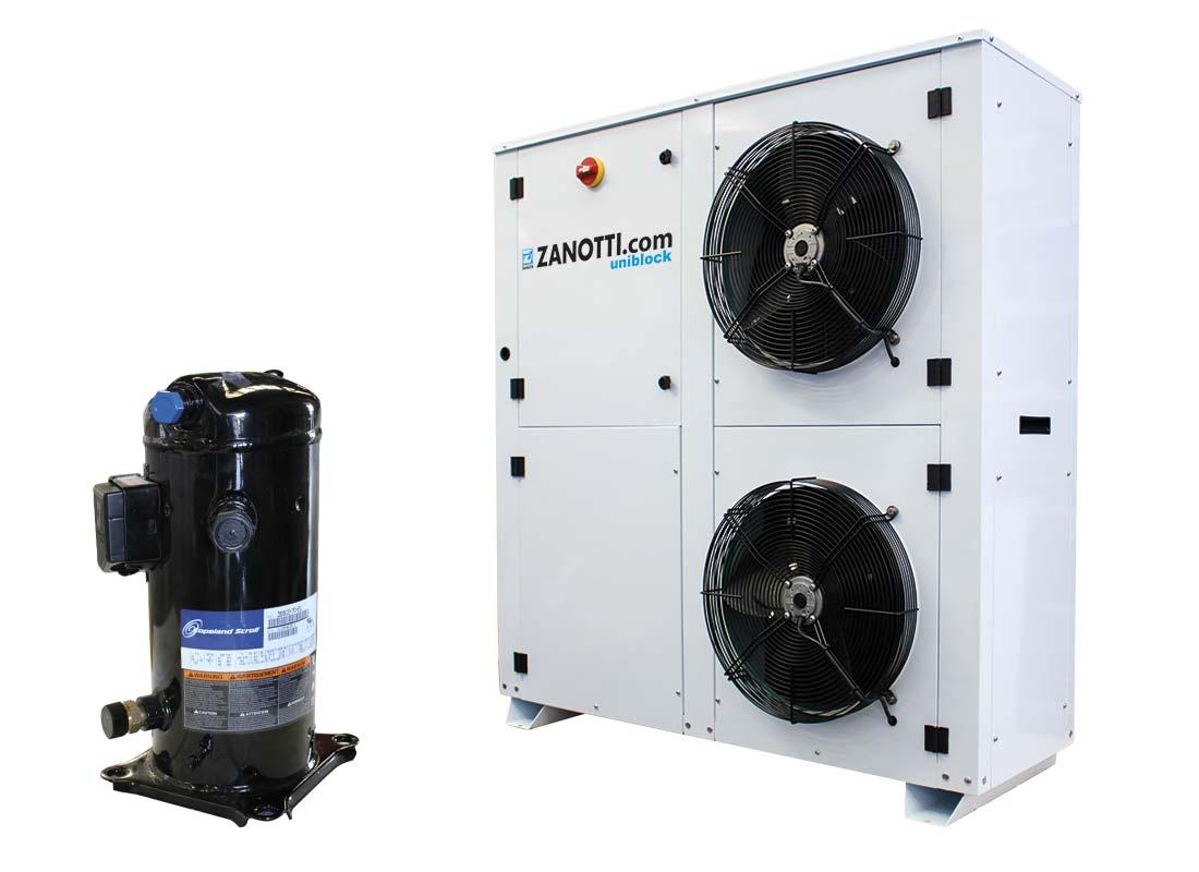 Unidad condensadora hermética CU-E con compresor Scroll Copeland