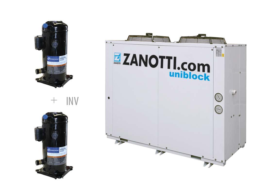 """Unidad condensadora con compresores twin """"Scroll Copeland"""""""