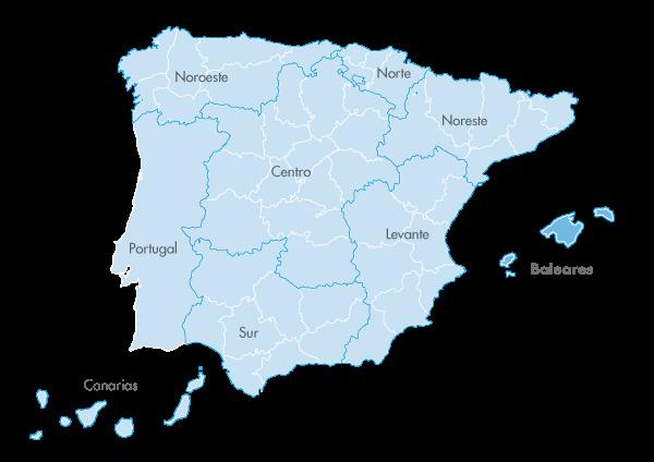 Mapa de zona Zanotti appliance en Baleares