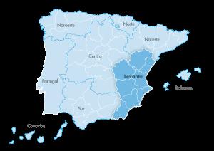 Mapa de zona Zanotti appliance Levante