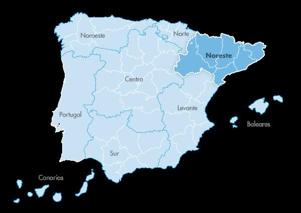 Mapa de zona Zanotti appliance noreste
