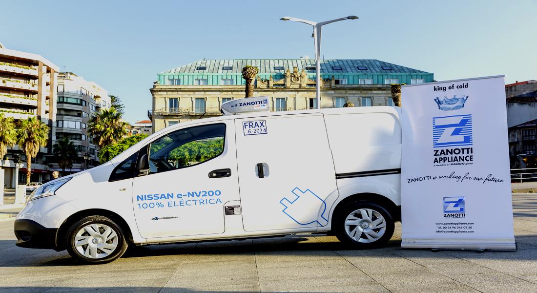 Equipo eléctrico Zanotti 100% bateria de litio instalado en una Nissan