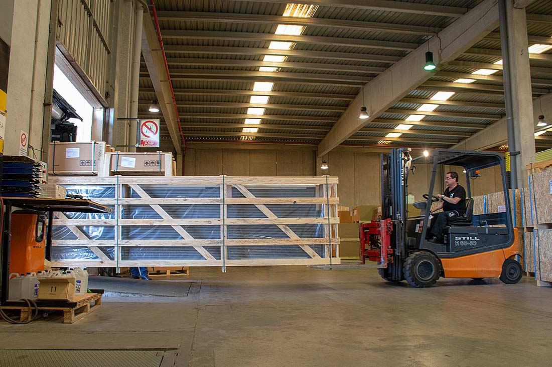 Descarga equipo industrial de frío Zanotti