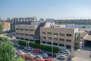 Vista aérea del edificio Zanotti en Valencia