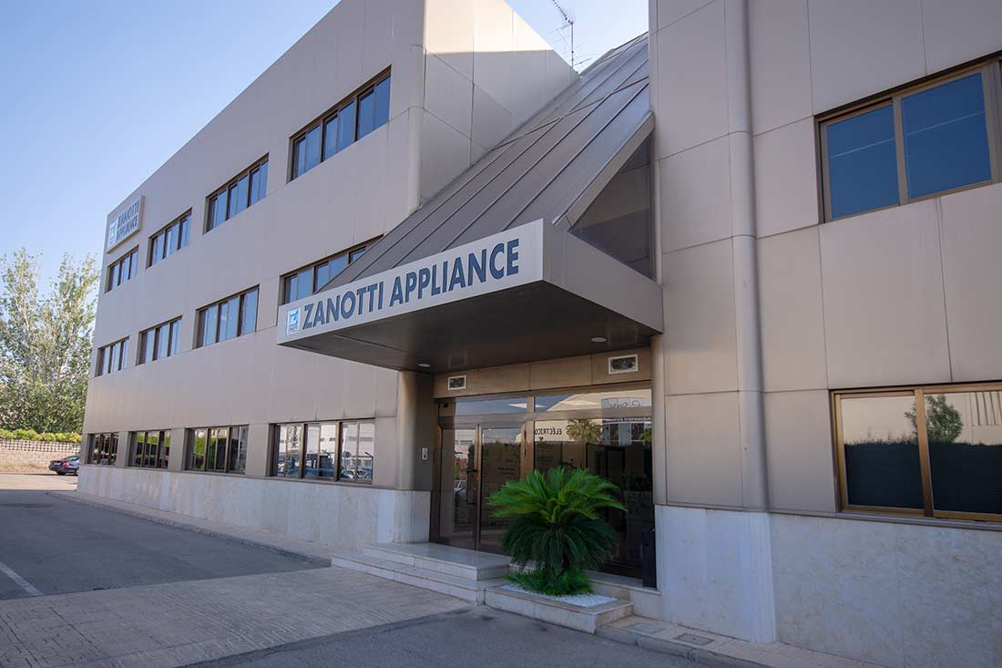 Entrada a la empresa Zanotti Appliance