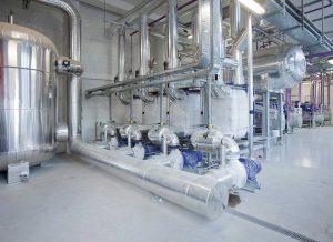 Instalación industrial para la conservación de producots lácteos