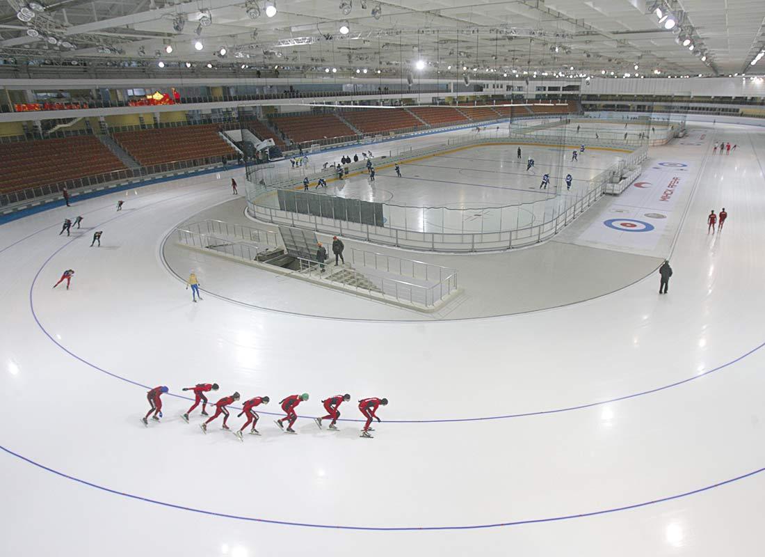 Pista de hielo. Instalación realizada por Zanotti.