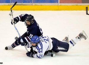 Partido de hockey en pista de hielo