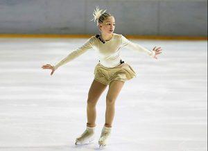 Pista de hielo para practicar patinaje artístico