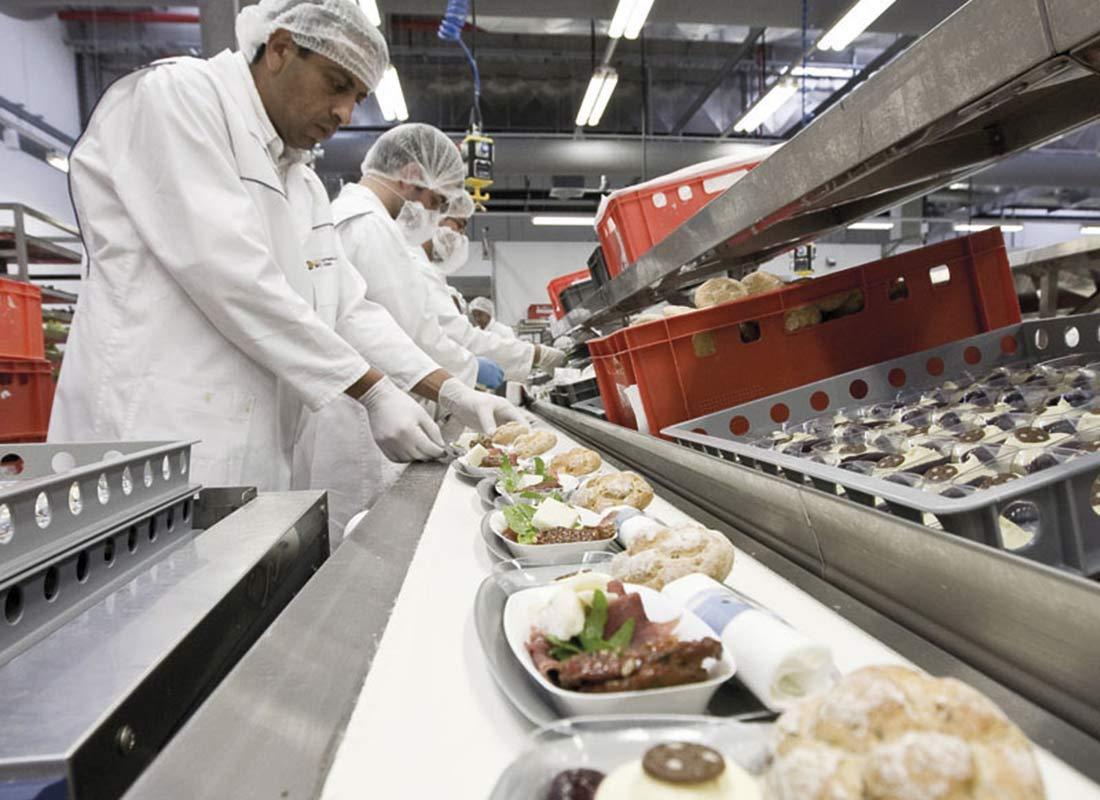 Preparación de comida para el sector catering
