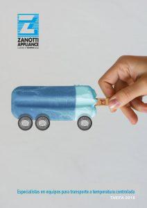 Catálogo tarifa de transporte Zanotti PDF