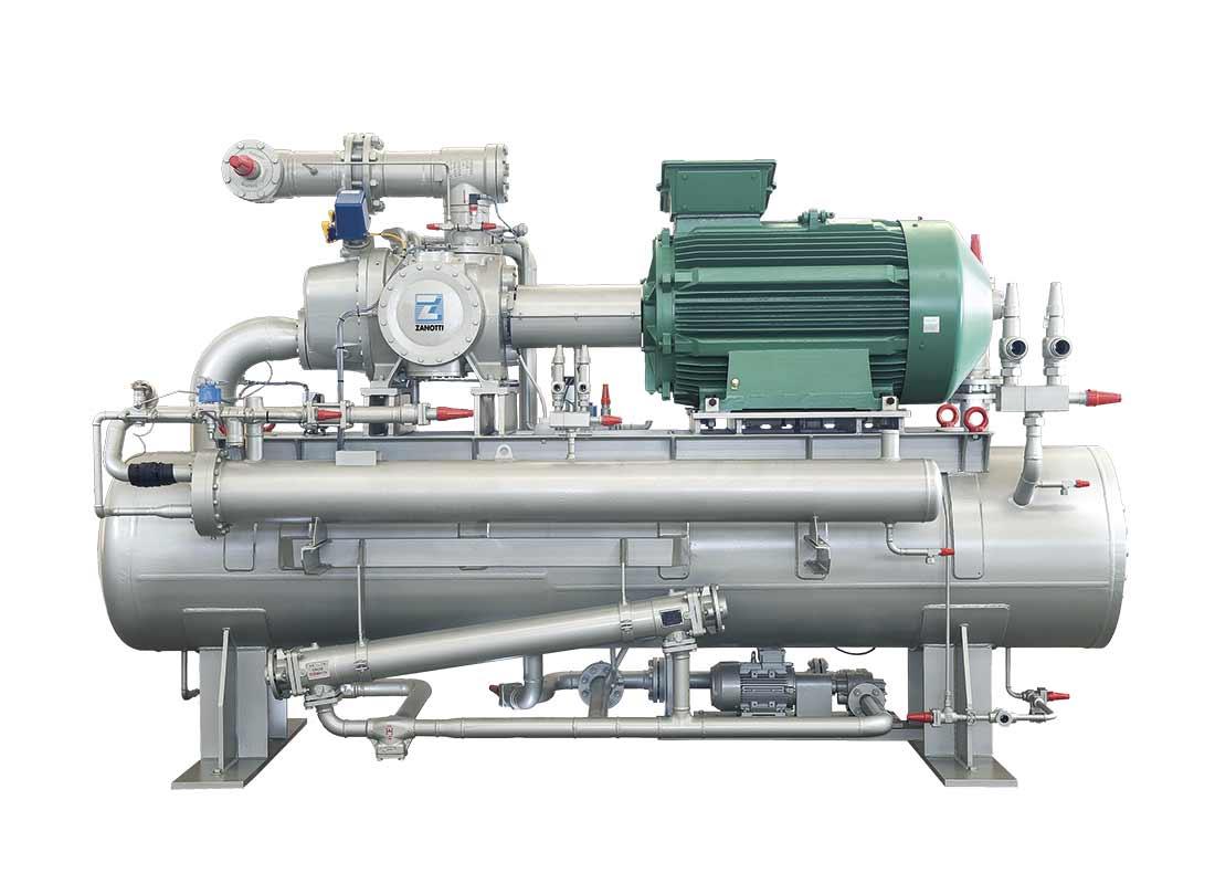 Equipo para refrigeración de procesos y compresión de gases