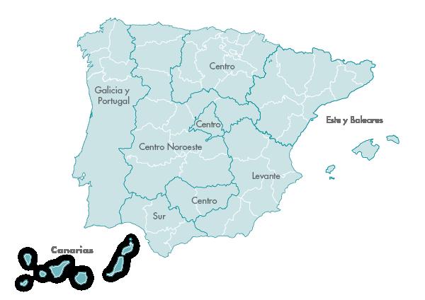 Mapa Zanotti appliance transporte Canarias
