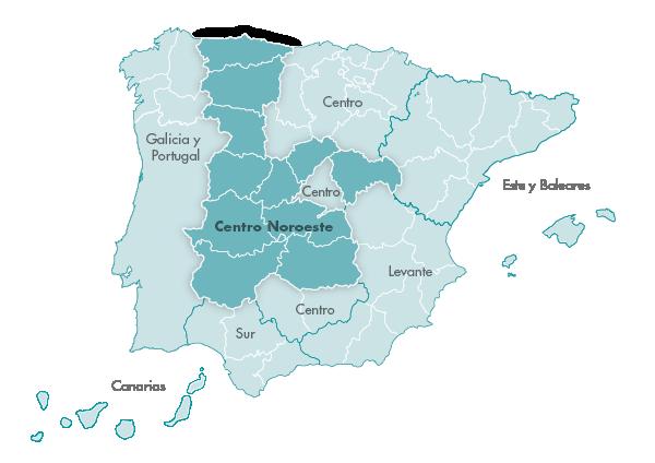 Mapa Zanotti appliance transporte Centro Noroeste