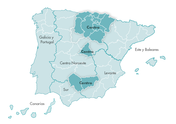 Mapa Zanotti appliance transporte Centro