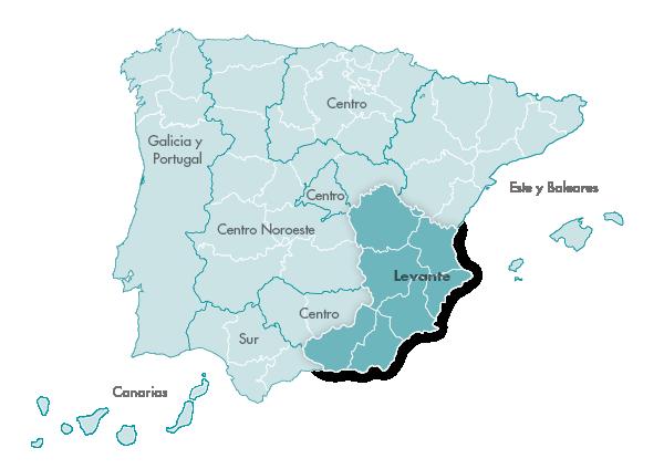 Mapa Zanotti appliance transporte Levante