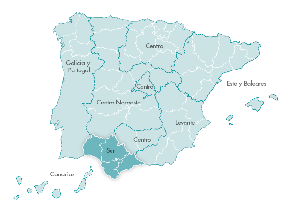 Mapa Zanotti appliance transporte Sur