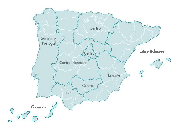 Mapa de delegaciones Zanotti appliance transporte
