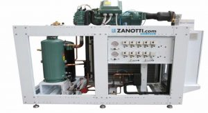 Condensadora con compresor de tornillo para túneles de congelados