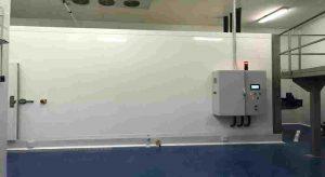 Unidad condensadora con compresor de tornillo Bitzer y equipos de evaporador de mural utlizados para túneles de congelación