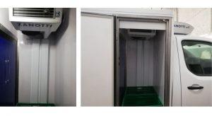 evaporador y condensador de un equipos Z380 multimtemperatura en furgoneta reparto para Mercadona