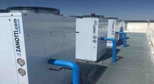 Plano general de 4 condensadoras Zanotti modelo CU para empresa aeronáutica