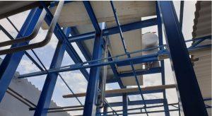 estructrura en hierro para instalación de amoniaco en Dakhla