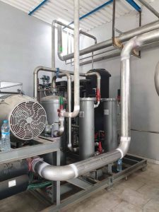chasis de hierro para central frigorífica en Dakhla