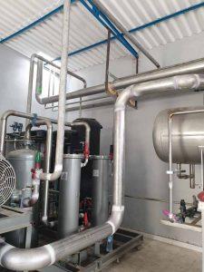 Instalación frigorífica para amoniaco