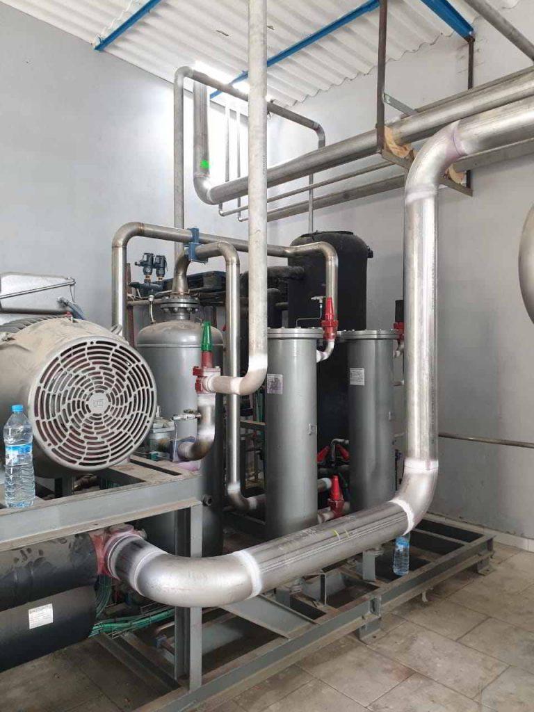 Central compresor de tornillo Zanoti para amoniaco en Dakhla