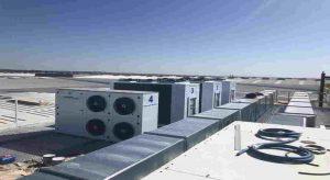 Instalación de cuatro condensadoras Zanotti modelo CU para empresa aeronáutica de Sevilla