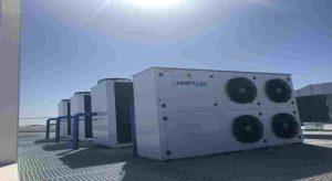 Cuatro unidades condensadoras Zanotti en azotea de empresa aeronáutica