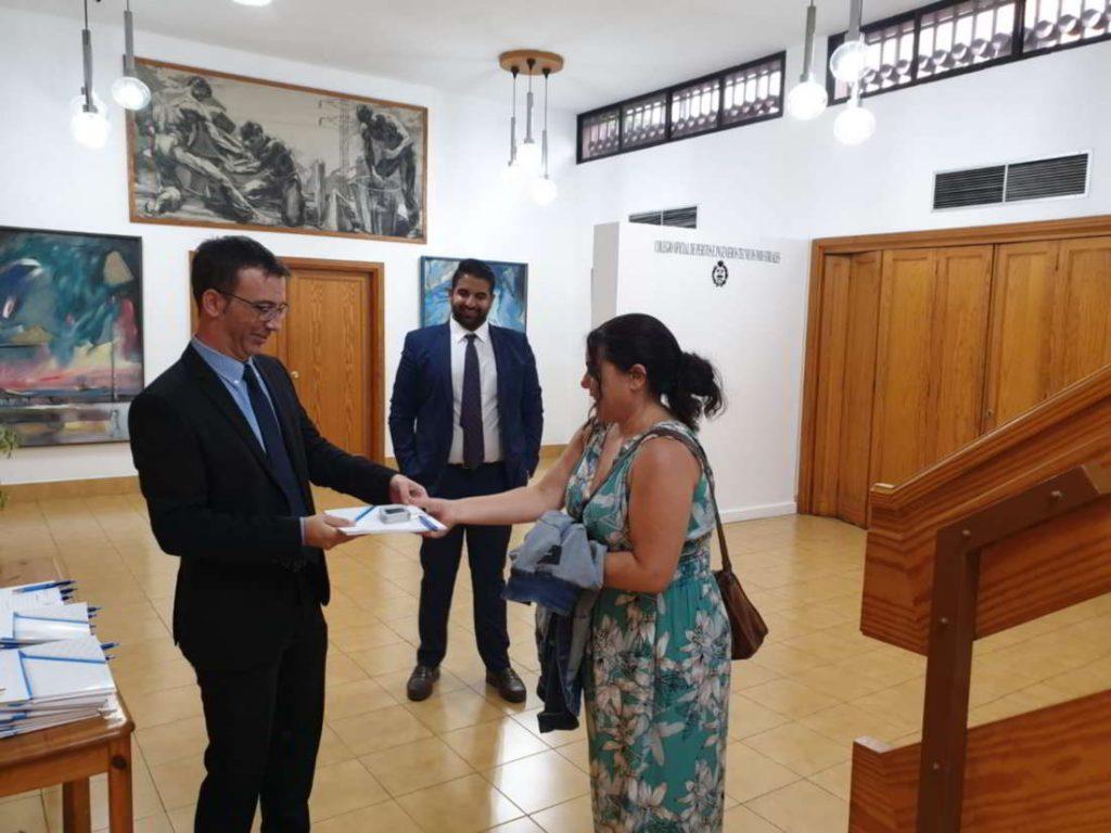 Recepción de invitados a las jornadas técncias de frío industrial en COGITI Las Palmas