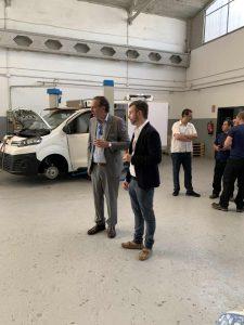 Vicente Delás, consejero delegado de Zanotti Appliance junto con Michele Veronesi, responsable de Transporte Zanotti Italia