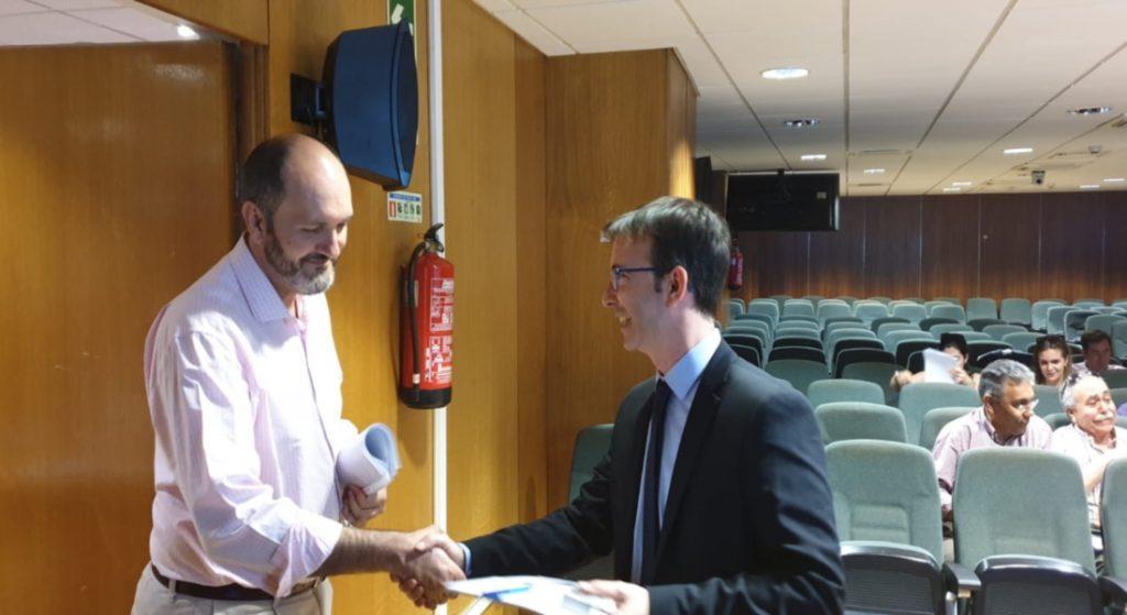 Recepción de invitados a la jornada de formación en COGITI MADRID