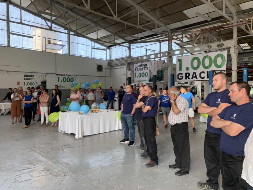foto general del evento 1.000 unidades Zanotti entregadas a Mercadona