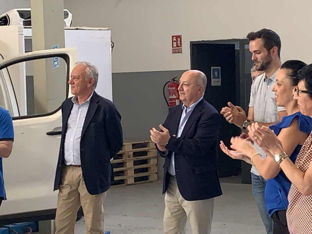 Representantes de la empresa Oliva Torras en la fiesta Mil Unidades Zanotti entregadas a Mercadona