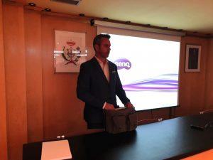 Vicente Barrachina, departamento técnico comercial de Zanotti Appliance da la conferencia sobre Frío Industrial en COGITI León
