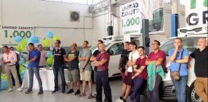 Parte del equipo de Carrocerías Subiela durante la fiesta 1.000 unidades Zanott entregadas a Mercadona