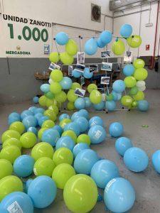 Detalle de unos de los momentos de la fiesta unidad Zanotti número 1.000 entregada a Mercadona