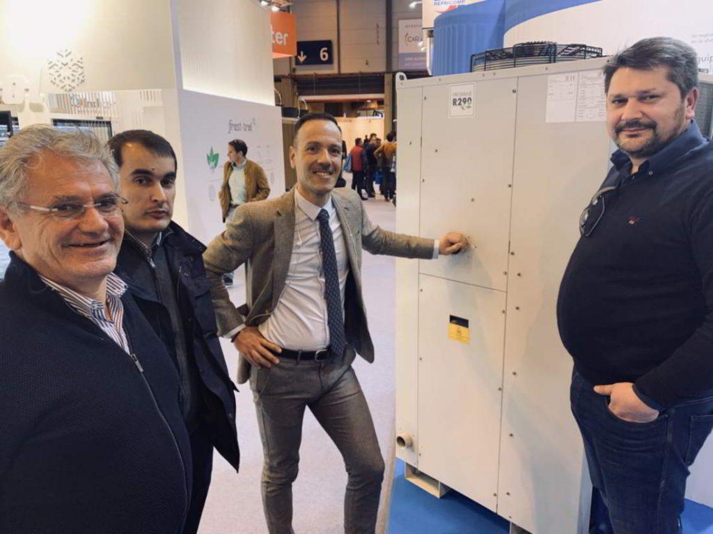 El delegado de Zanotti Appliance, Hugo Espada,, en la feria de Climatización y Refrigeración 2019