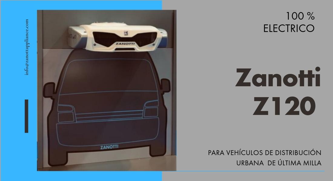 Equipo Zanotti Z120 100% eléctrico para vehículos de distribución urbana de última milla