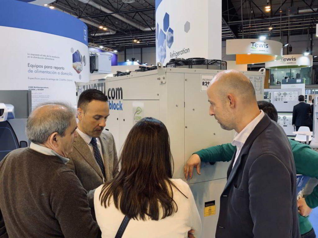 Nuestro delegado de Zanotti Appliance en Portugal, Hugo Espada en la feria de Climatización y Refrigeración 2019