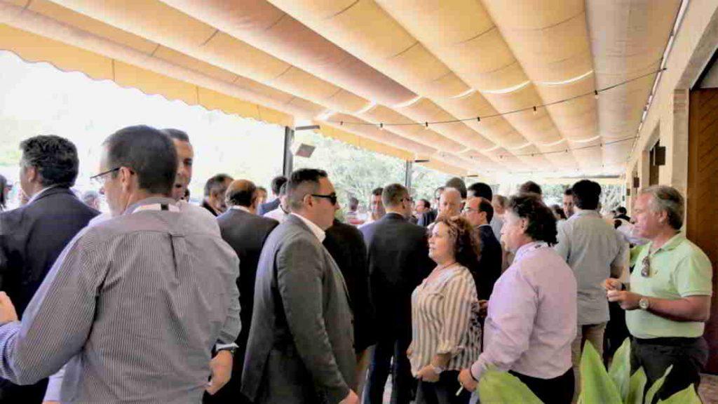 Aperitivo de la comida inaugural del V Congreso Nacioal del Transporte Frigorífico patrocinada por Zanotti