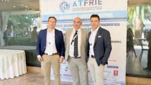 Directivos de Liderkit junto al delegado comercial Antonio Burguete de Zanotti Appliance