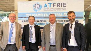 Jose Luis Figols de Zanotti Appliance, Felix Sanz, de AEFYT, Jose MAría Arnedo de ATFRIE y Michele Veronesi de zanotti Spa