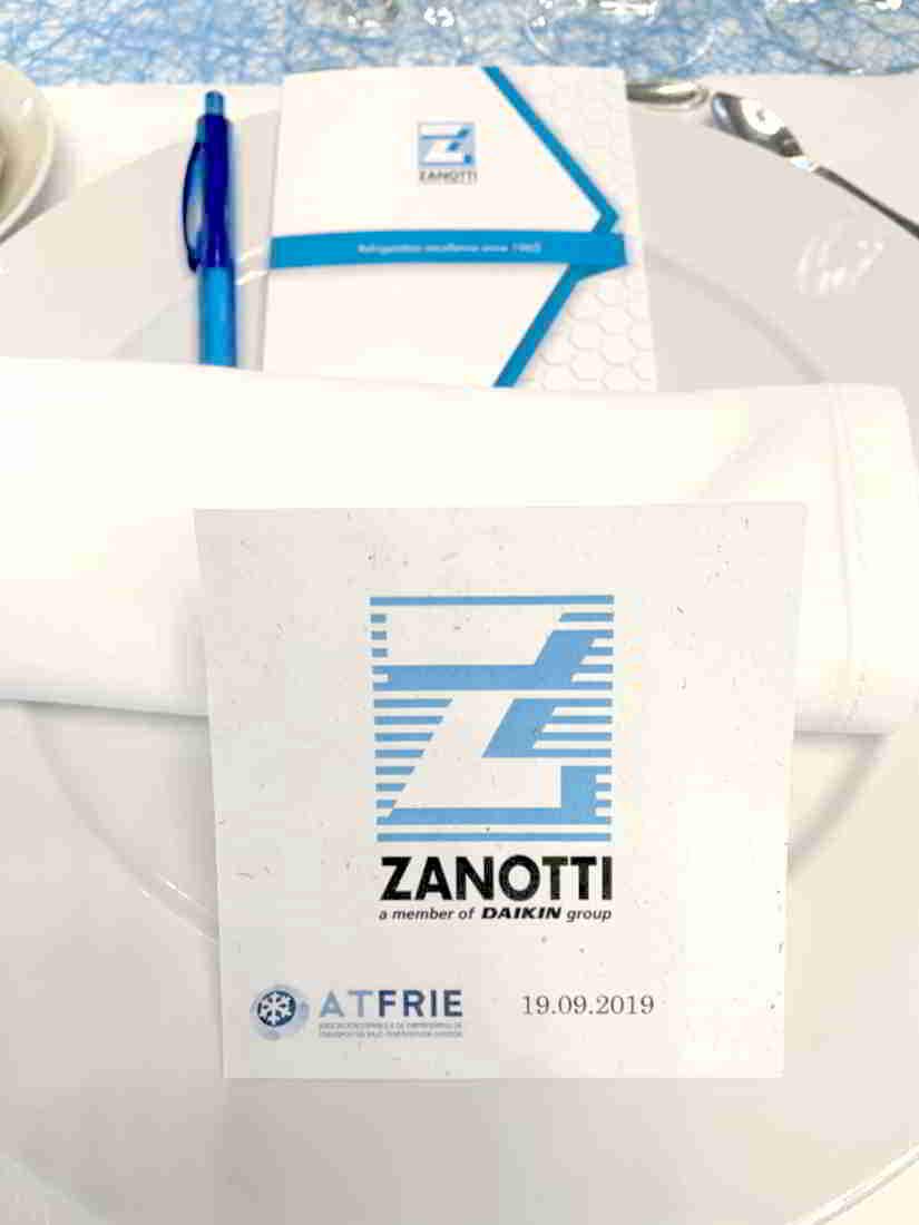 Minuta de la comida inaugural del v Congreso Nacional del Transporte Frigorífico, patrocinado por Zanotti