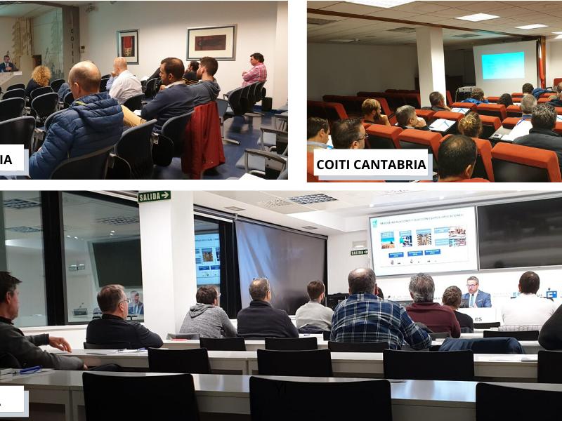 Jornadas técnicas de frío industrial Zanotti en los Colegios de Ingenieros industriales de Navarra, Biscaia y Cantabria