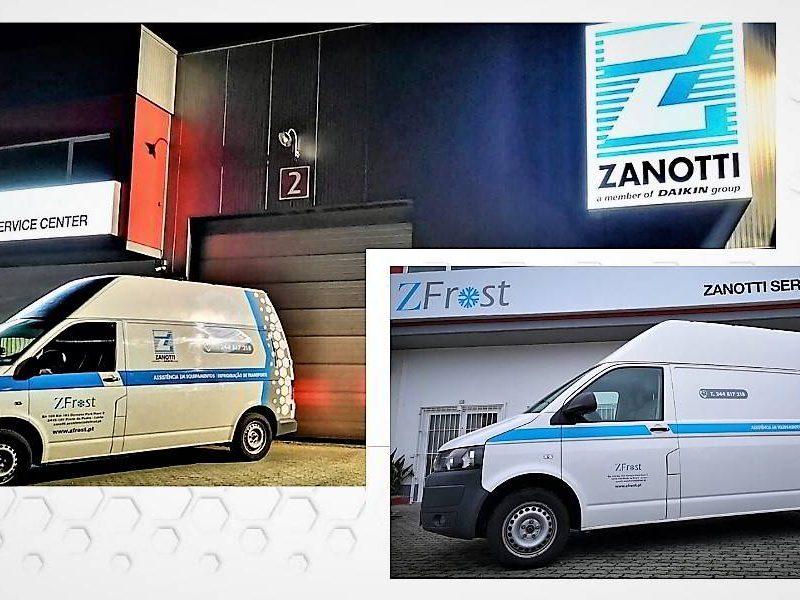Furgoneta de emergencia de ZFROST Zamotti en Portugal